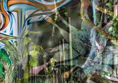 Graffiti Street art Exposition   Ambiance graffiti végétale en montage photo