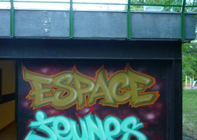 Graffiti Street Art Foyer Espace Jeunes 2015  Quartier du Biollay à Chambéry