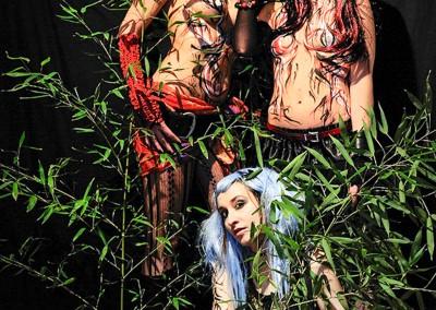Body painting Graffiti     Modèle Claire Bmode - Sophie H - Wero Photo Rémi G en 2012 à Cannes (06)