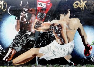 Graffiti Street art      Zert B2C - Neya - Tekas ATF - Tiger CF 2008 Cagnes sur Mer (06)
