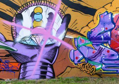 Graffiti Street art     Mobe Acre Fase Sear PB - Zert 711  2014 Chambéry (73)
