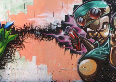 Graffiti Street art      Deso 5.7 - Vice SVK 065 - Ryda 5.7 - Skio B2C - Skeum 5.7 - Zert B2C 065  2009 Montpellier (34)