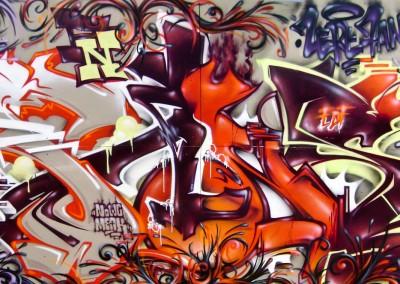 Graffiti Street art    Zert et Fans  en 2011 à Valbonne (06)