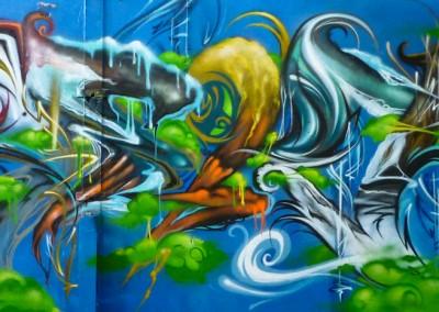 Graffiti Street art   Zert en 2014 à Grasse (06)