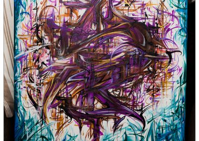 Graffiti Exposition    Calligraphie Canvas Zert  46 x 55   2014    Photo by Cunione Photography