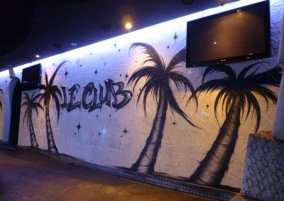Graffiti Street  Art    Décoration intérieur pour l'établissement le 4U Club en 2011 à Cannes  (06)
