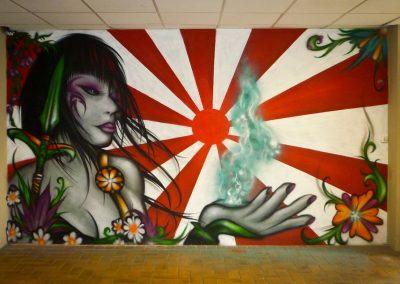 Graffiti Street Art       Décoration intérieur dans la salle de jeux en 2013 pour la MJC de Vence (06)