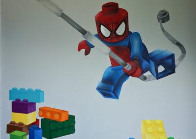 Décoration dans une chambre d'enfant Lego spiderman à La Roche sur Foron en Haute-Savoie 2019