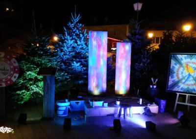 Performance live pour l'inauguration du casino Stelsia à Megève en Haute-Savoie 2019
