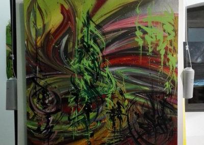 Toiles de Zert à la ferme de Bressieux en Savoie 73  Le collectif de la Maise  Graffiti Street art