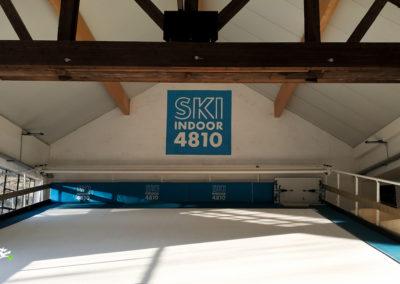 Décoration murale intérieur dans le Ski Indoor 4810 à Passy en Haute-Savoie 2019
