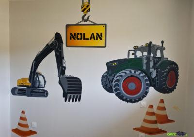 Décoration murale dans une chambre d'enfant à Bon en Chablais en Haute-Savoie 2020